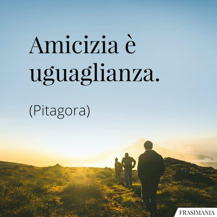 Frasi amicizia uguaglianza Pitagora
