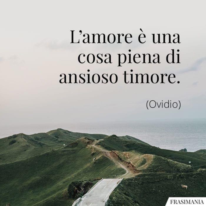 Frasi amore timore Ovidio