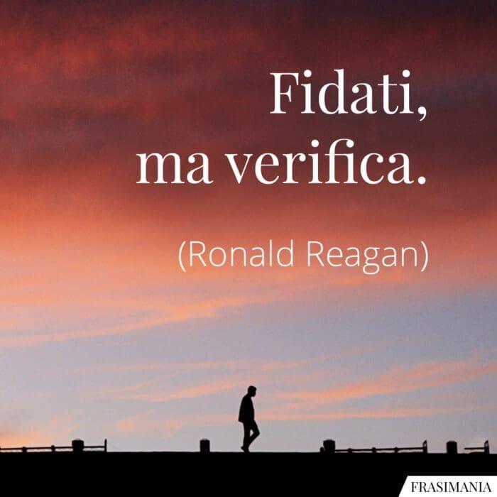 Frasi fidati verifica Reagan