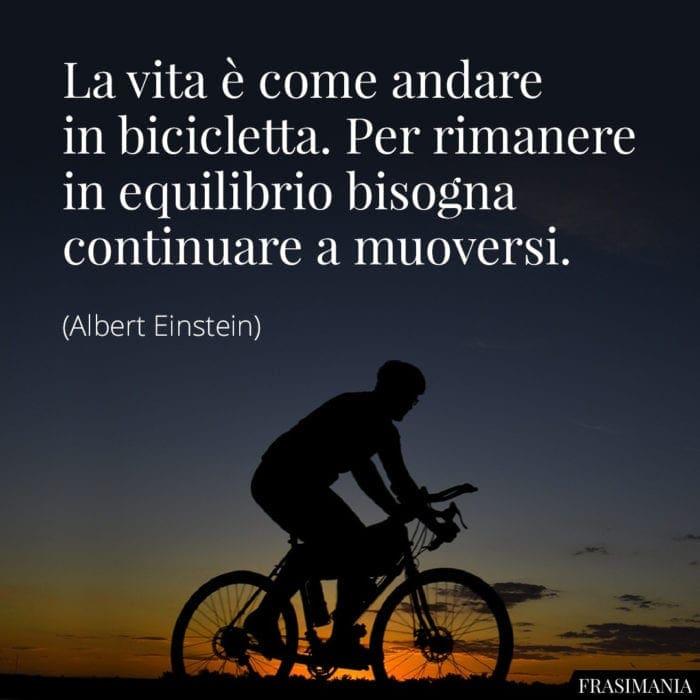 Frasi vita bicicletta Einstein