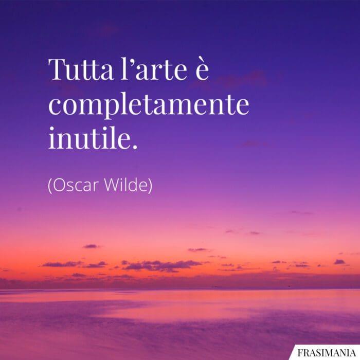 Frasi arte inutile Wilde