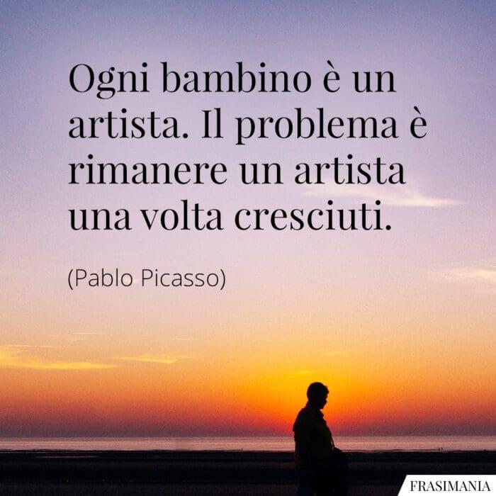 Frasi bambino artista Picasso