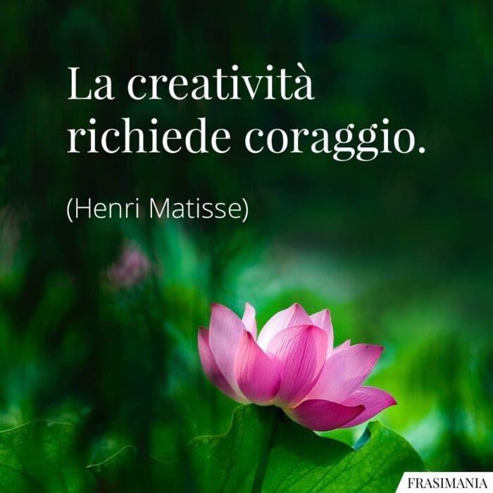 Frasi creatività coraggio Matisse