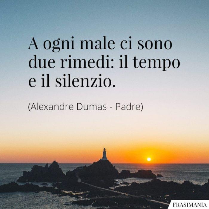 Frasi tempo silenzio Dumas