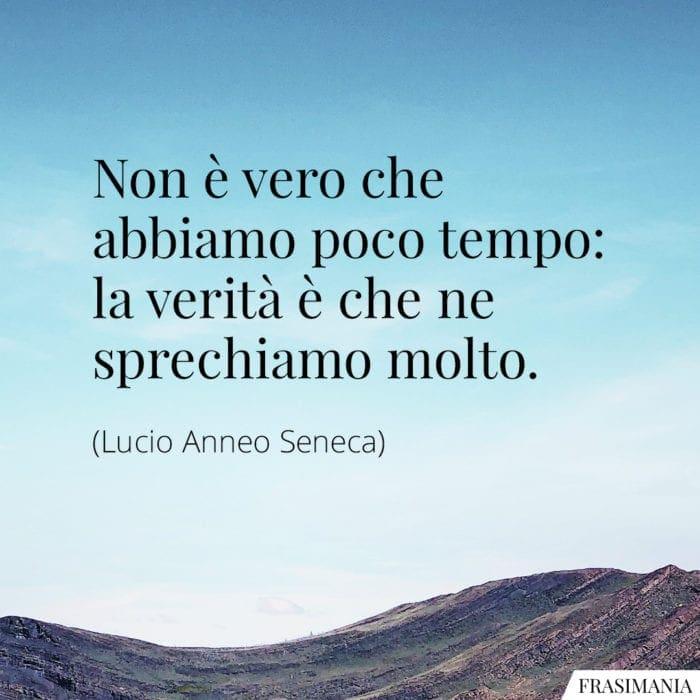 Frasi tempo sprechiamo Seneca