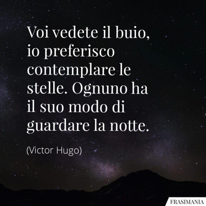 Frasi buio stelle notte Hugo