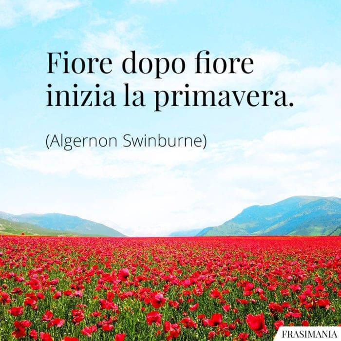 Frasi fiore primavera Swinburne