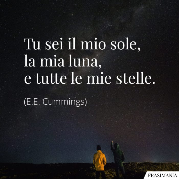Frasi sole luna stelle Cummings