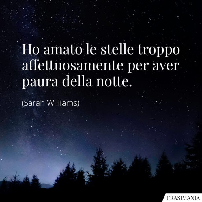 Frasi stelle notte Williams