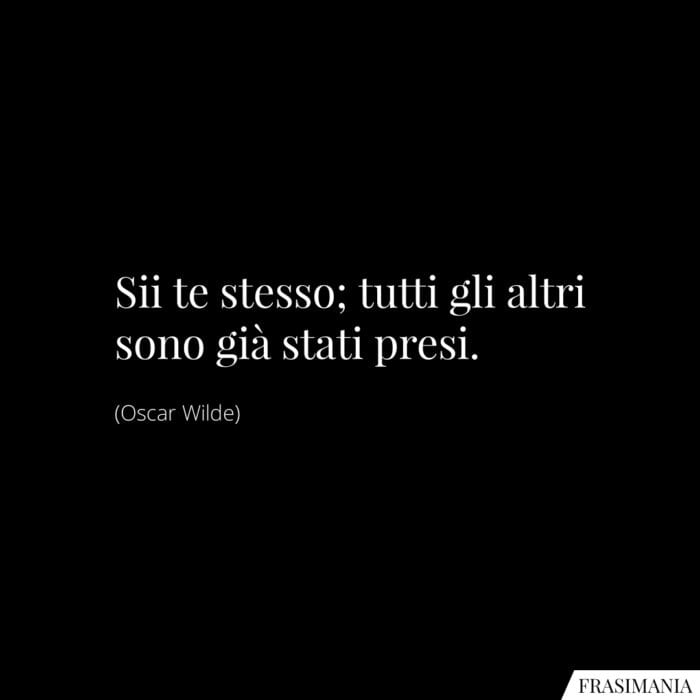 Frasi te stesso Wilde