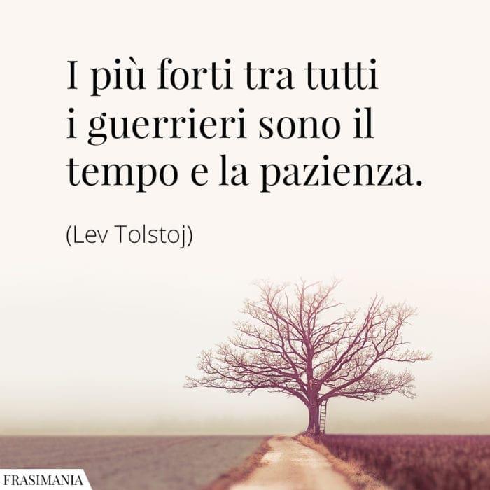 Frasi tempo pazienza Tolstoj