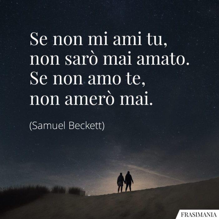 Frasi ami amo amerò Beckett