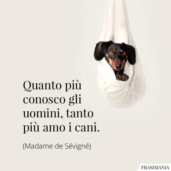 Frasi conosco uomini amo cani Sévigné