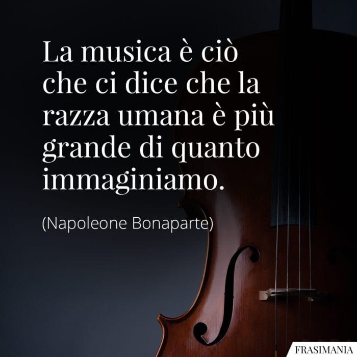 Frasi musica Napoleone