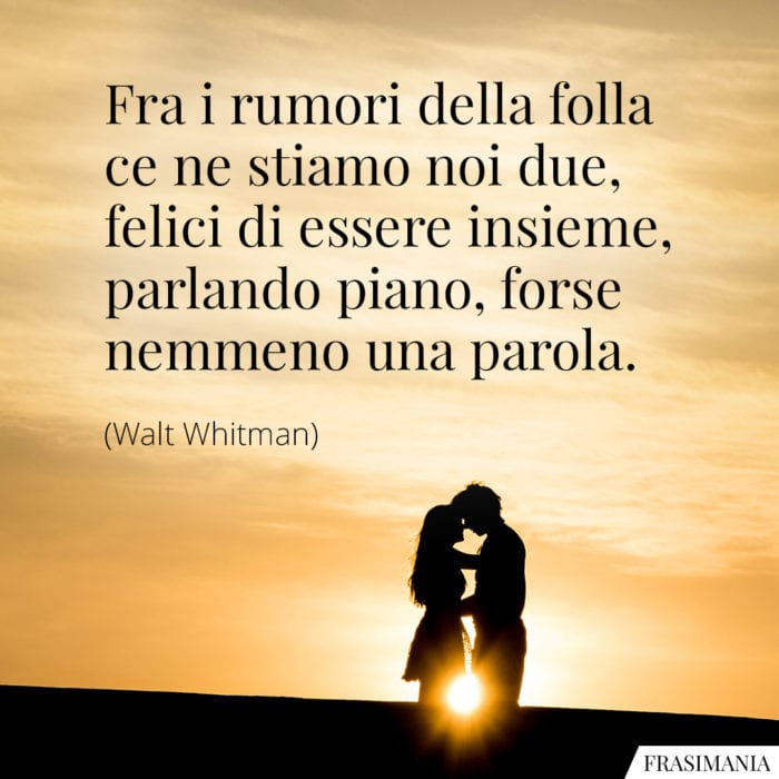 Frasi rumori folla felici Whitman