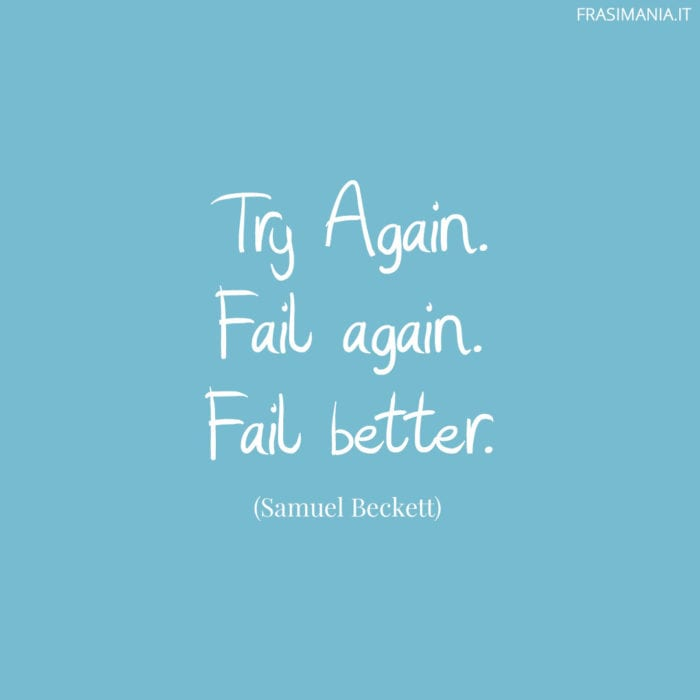 Frasi try again better Beckett