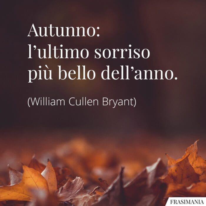 Frasi autunno sorriso Bryant