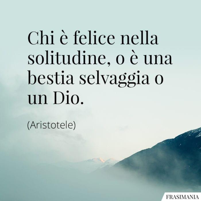 Frasi felice solitudine Aristotele