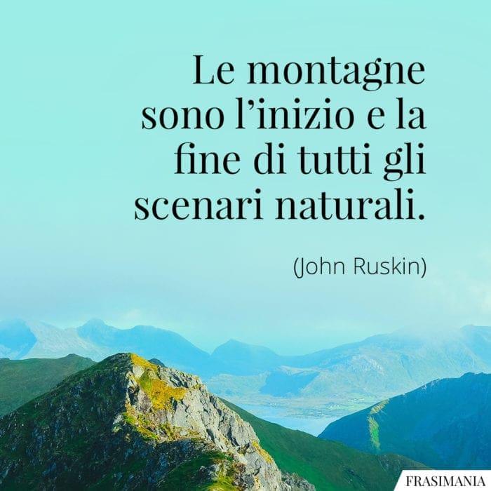 Frasi montagne naturali Ruskin