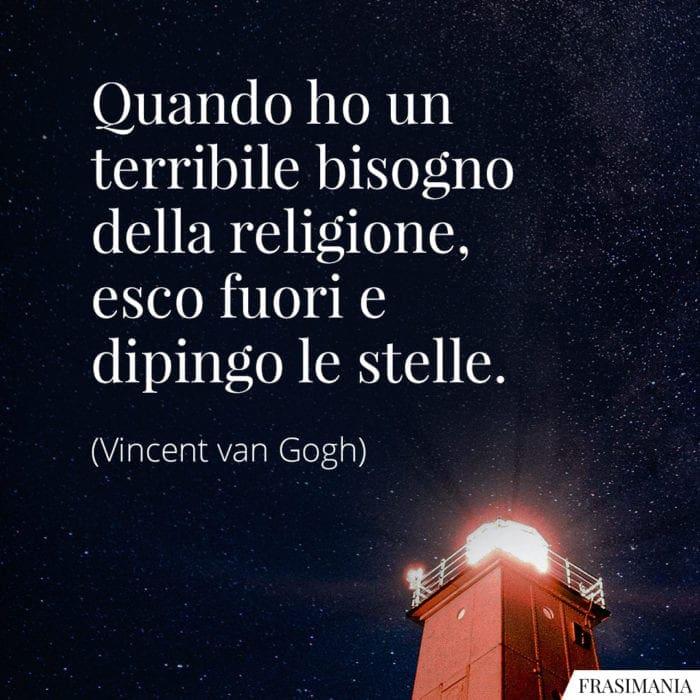 Frasi religione stelle van Gogh