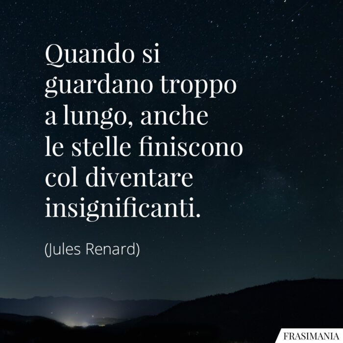 Frasi stelle insignificanti Renard