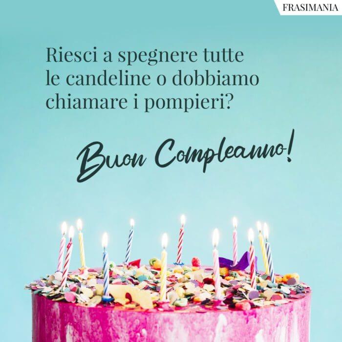 Frasi auguri compleanno divertenti candeline