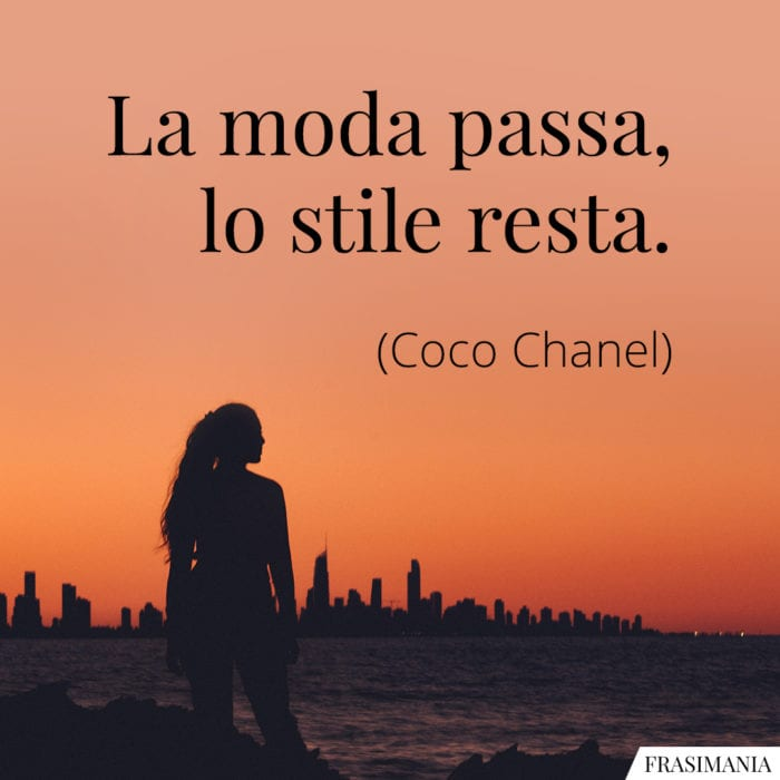 Frasi moda stile Chanel
