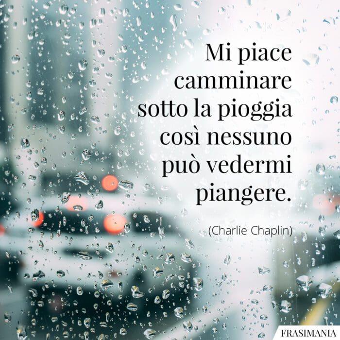 Frasi pioggia Chaplin