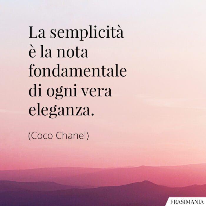 Frasi semplicità eleganza Chanel