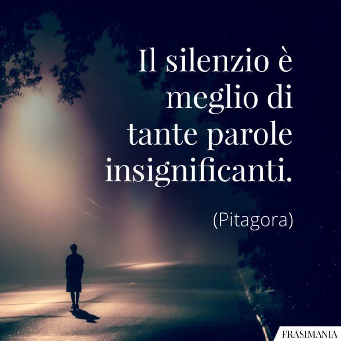 Frasi silenzio parole insignificanti Pitagora