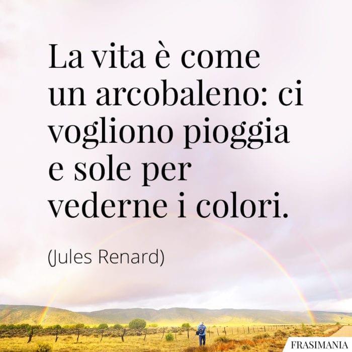 Frasi vita arcobaleno Renard