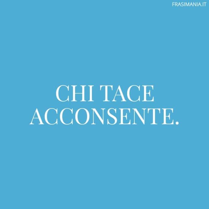 Proverbi italiani tace