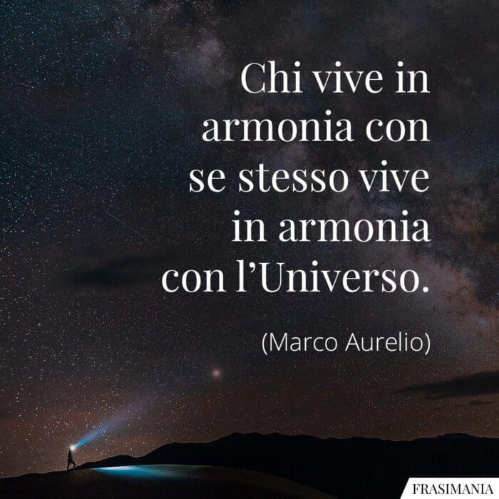 Frasi armonia universo Aurelio