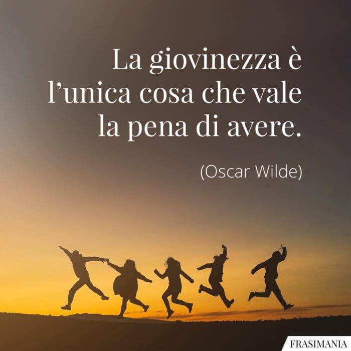 Frasi giovinezza vale Wilde