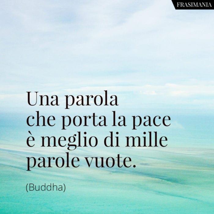 Frasi parola pace Buddha