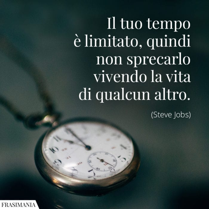 Frasi tempo limitato vita Jobs