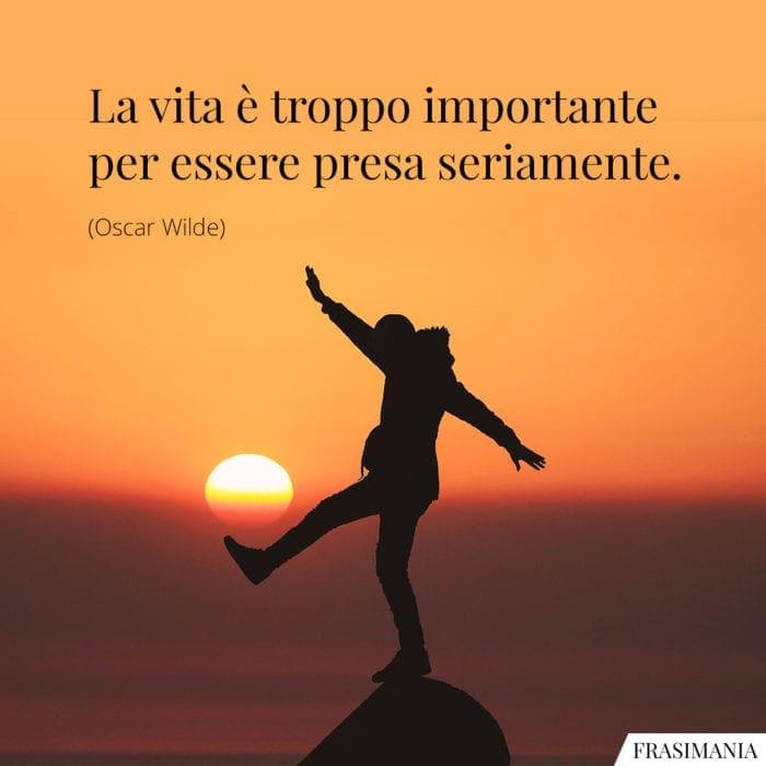 Frasi vita importante Wilde
