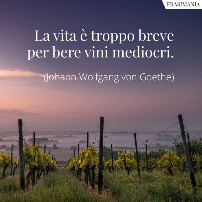 Frasi vita vini mediocri Goethe