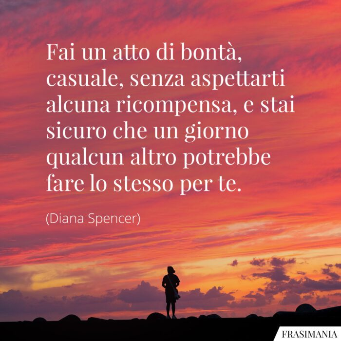 Frasi bontà Diana Spencer