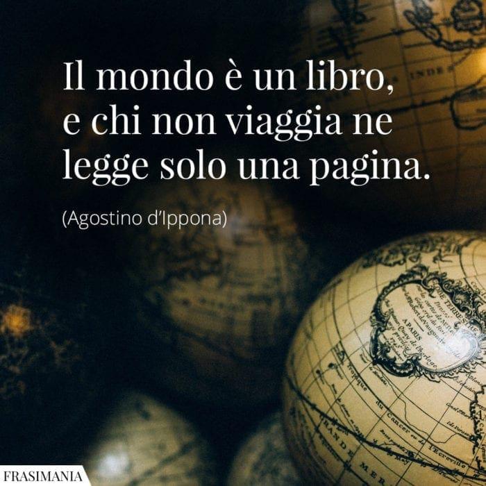 Frasi mondo libro viaggia Agostino