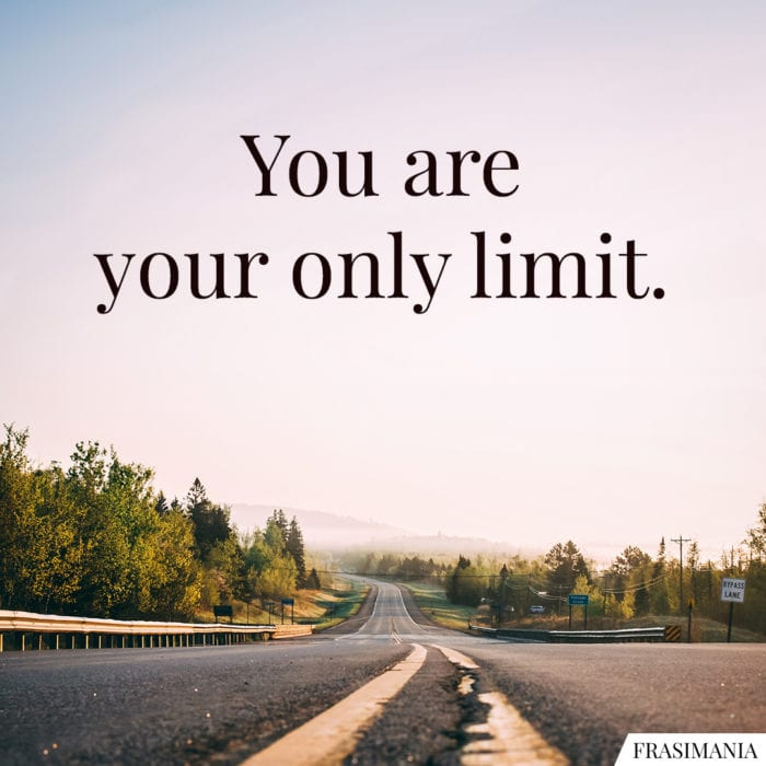 Frasi only limit