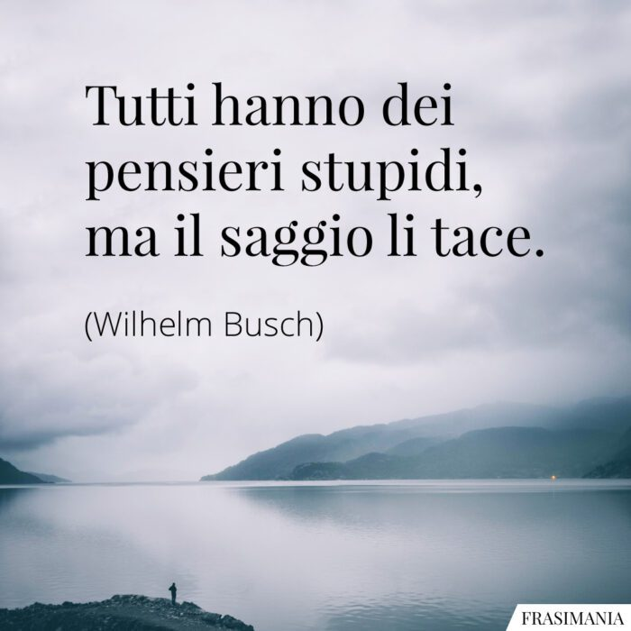 Frasi pensieri stupidi saggio Busch