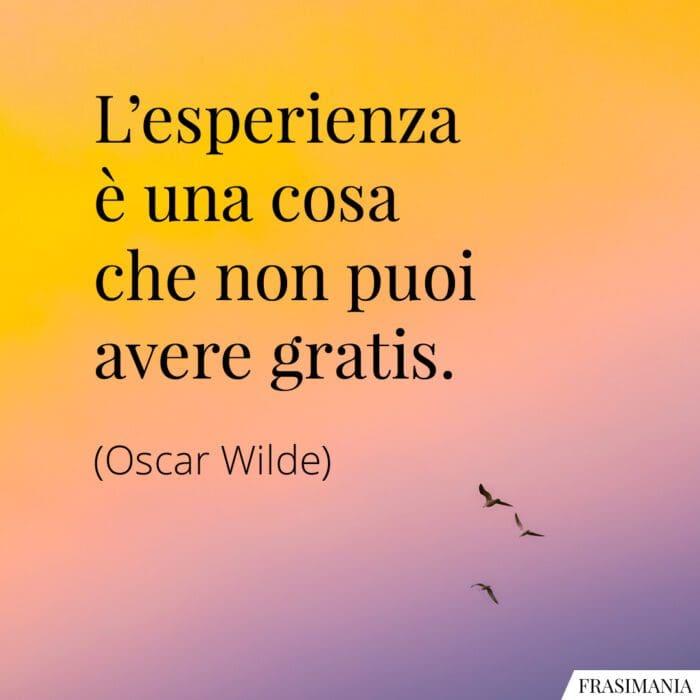 Frasi esperienza gratis Wilde