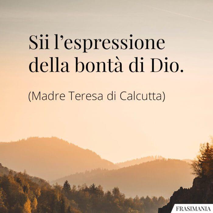 Frasi espressione Dio Madre Teresa
