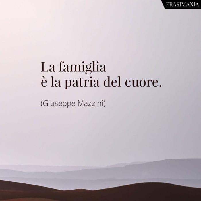 Frasi famiglia patria Mazzini