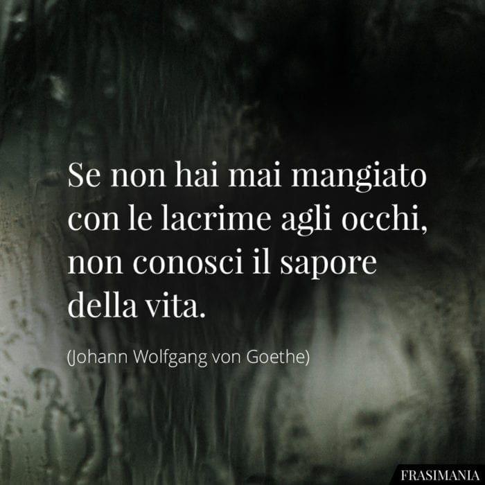 Frasi lacrime vita Goethe