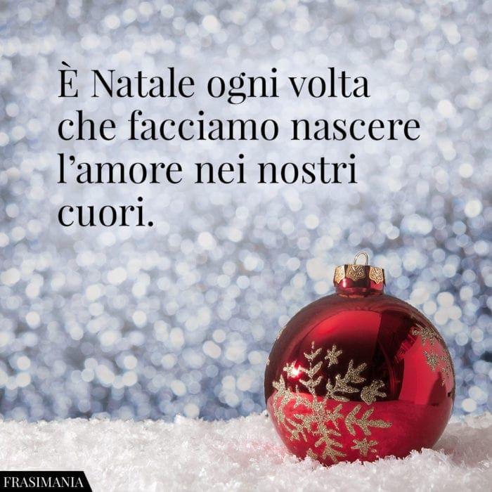 Frasi Natale amore nostri cuori