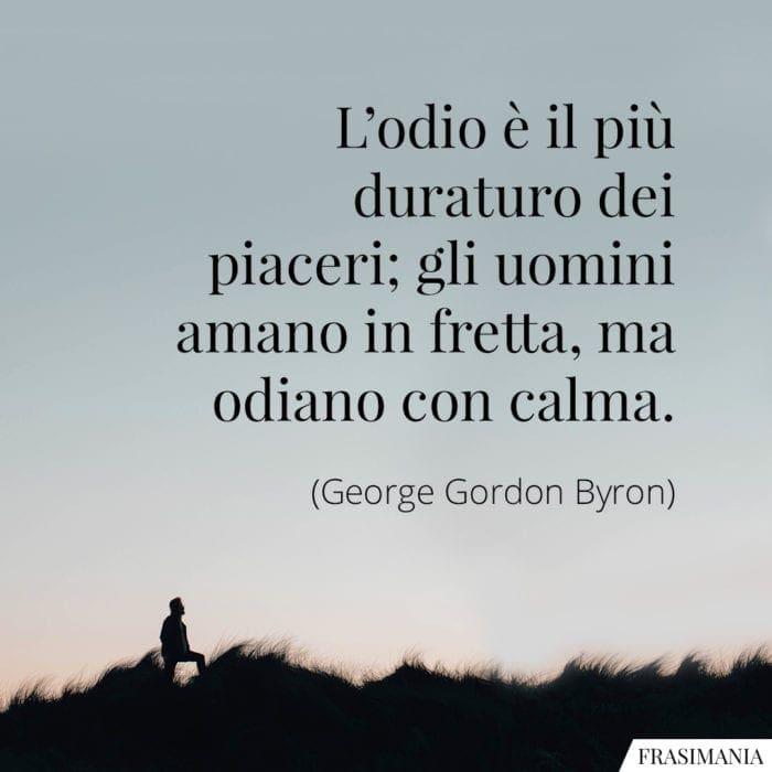 Frasi odio piaceri Byron