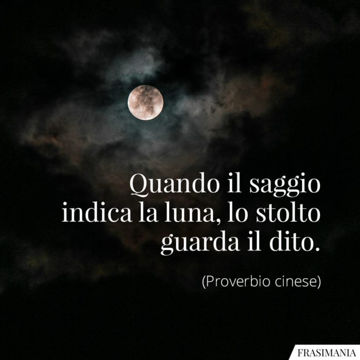 Frasi saggio luna stolto dito