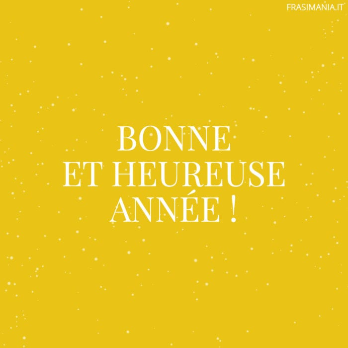 Frasi buon anno francese